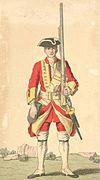 Soldier of 29th regiment 1742