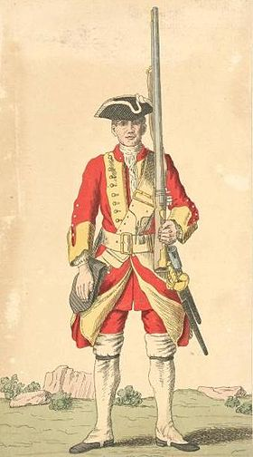 Soldat du 29th Regiment of Foot, 1742