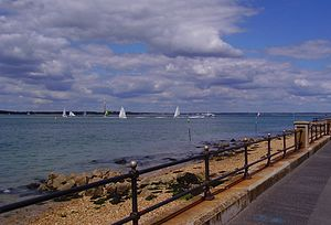 Solent - View of the Solent from Gurnard, near Cowes, Isle of Wight