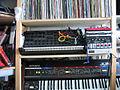 Some more music gear - Korg MS20, Clavia Nord MicroModular, M-Audio Midisport 4x4, Philip Rees MIDI-CV thing, Akai SG01v, Roland Juno-6.jpg
