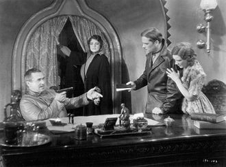 Song of the Flame - From left-Noah Beery, Alice Gentle, Alexander Gray and Bernice Claire in a scene from the film.