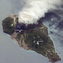 Активность на вулкане Суфриер- Хиллс- 23 марта 2012. Карибские острова