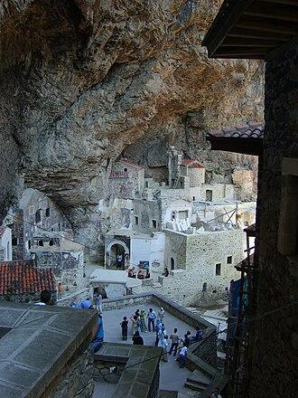 """Sumela Monastery - The """"backyard"""" of the monastery today"""