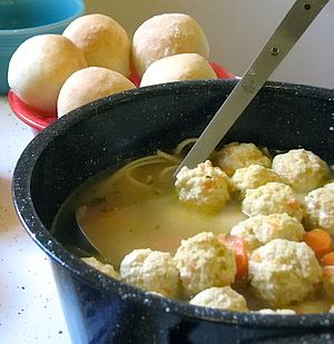 Meatball - Hochzeitssuppe, German traditional wedding soup with meatballs