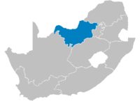 Location of North West Province