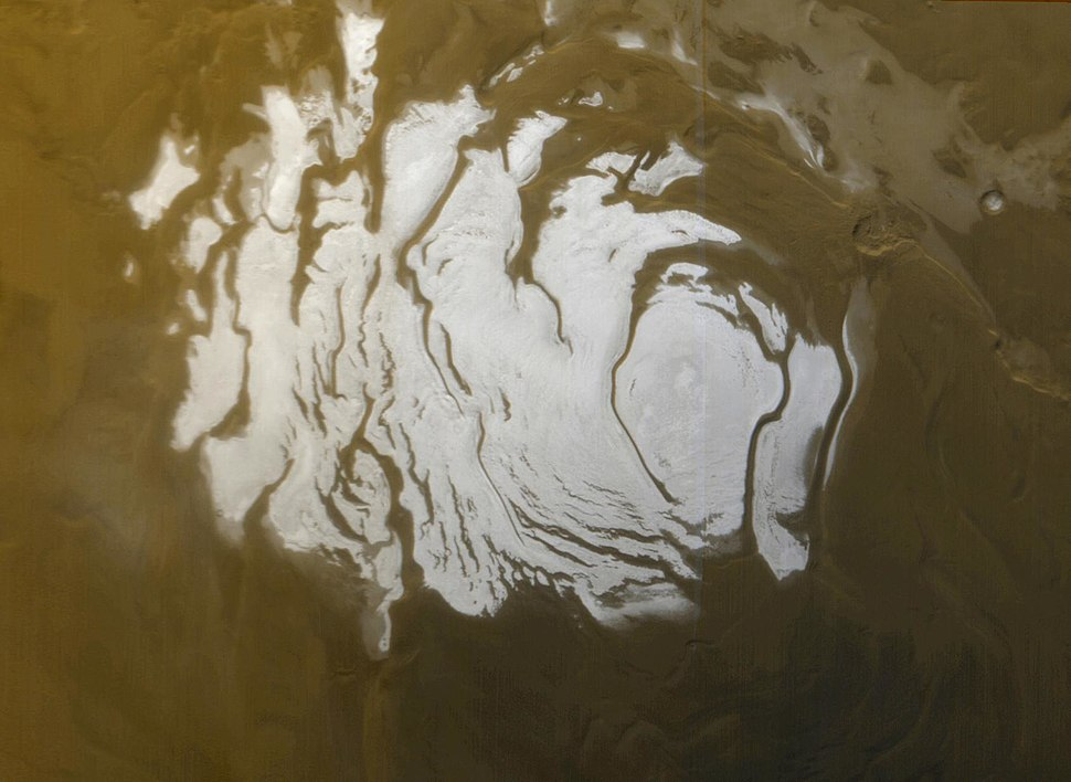 South Polar Cap of Mars during Martian South summer 2000