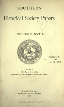 Southern Historical Society Papers volume 18.djvu