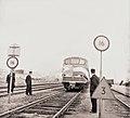 Speciale personentrein van NS naar Gulf-raffinaderij in Europoort in verband met ingebruikname van de nieuwe spoorverbinding. - NL-RtSA 4121 6983-01.jpg