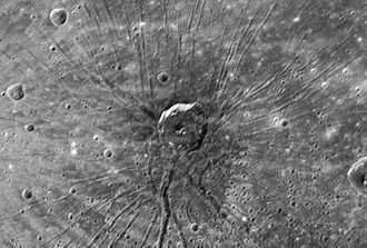 Caloris Planitia - Image: Spider crater on planet mercury