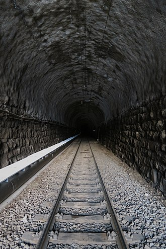 Albula Tunnel - View from the Spinas portal