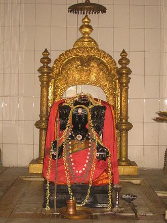Tyagaraja - Image: Sri Tyagaraja Swamy Idol at samadhi mandir in Tiruvaiyaru