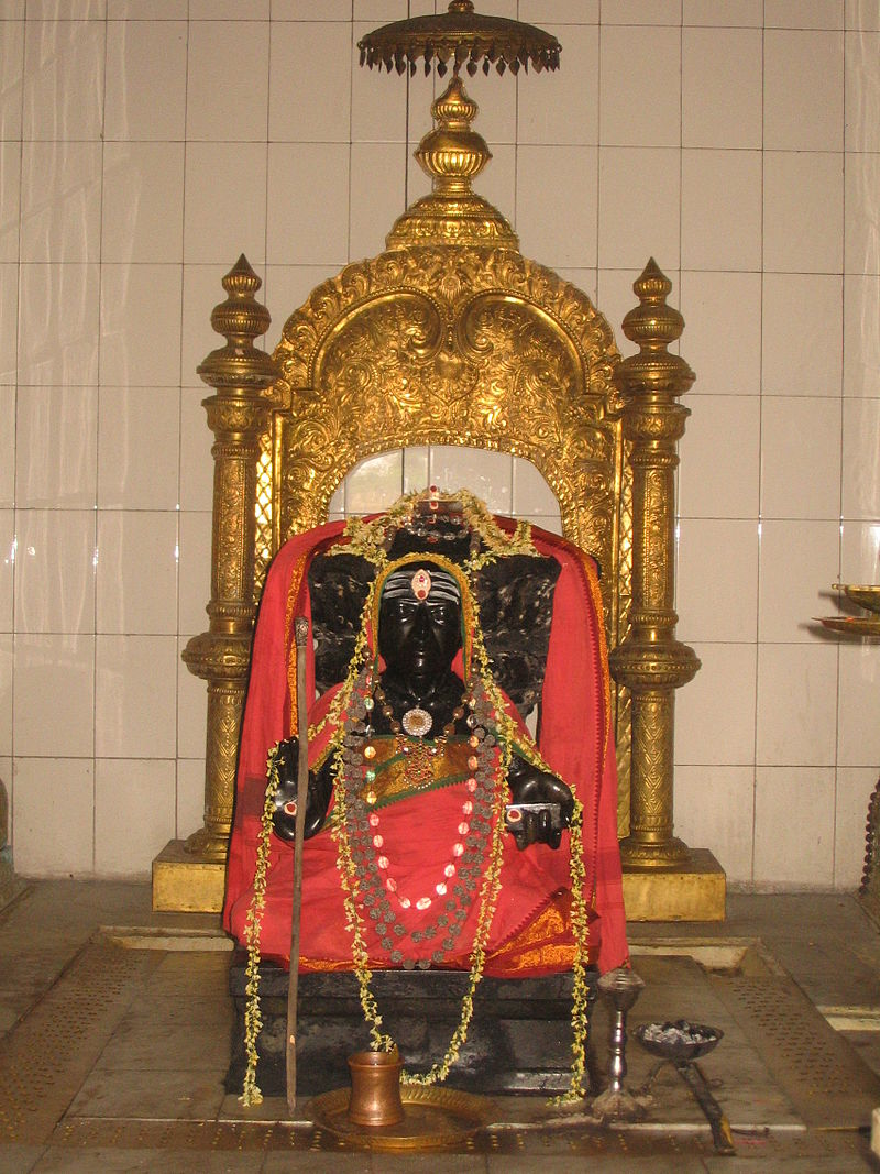 Shri Thyagaraja Swamy's idol at Samadhi Mandir at Tiruvaiyur