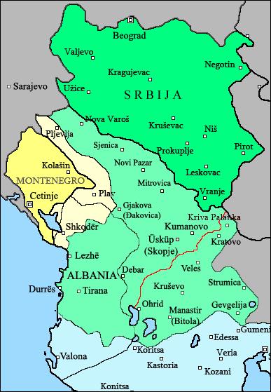 Srpska osvajanja 1913