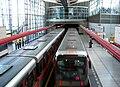 Střížkov, vlaky metra ve stanici, pohled směrem ke stanici Prosek.jpg