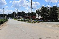 Street entering St. Ann, Missouri, July 2016