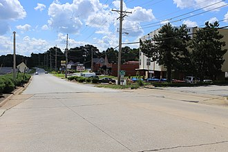 St. Ann, Missouri - Street entering St. Ann, Missouri, July 2016