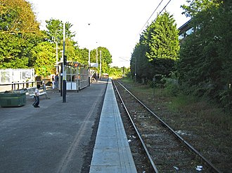 St Albans Abbey railway station - Image: St Albans Abbey railway station in 2009