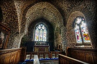 St Brelade's Church - Interior of St Brelade Church, 2013