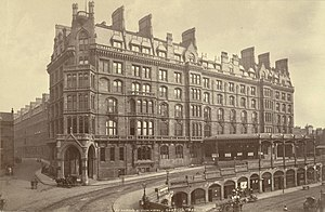 St Enoch railway station - St Enoch railway station hotel in 1879. Photograph by James Valentine
