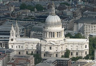 St Paul's Cathedral - Image: St Pauls aerial (cropped)