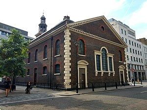 St Peter, Vere Street - St Peter, Vere Street from Chapel Place