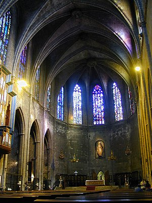 Santa Maria del Pi, Barcelona - Interior of the church.