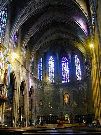 Santa Maria del Pi, Barcelona - Interior of the church.