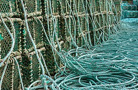 Stacks of lobster traps in Norra Grundsund 7.jpg