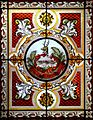 Stained glass skylight in the Cedar Creek Room in the Vermont State House.jpg