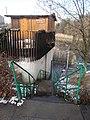 Stairs with green railing, Újhegy Park, 2018 Kőbánya.jpg