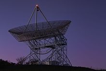 The Stanford Dish in the early morning hours.