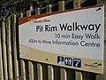 Start of the amazing walk around the biggest hole you'll ever see - the Martha Goldmine, Waihi - panoramio.jpg