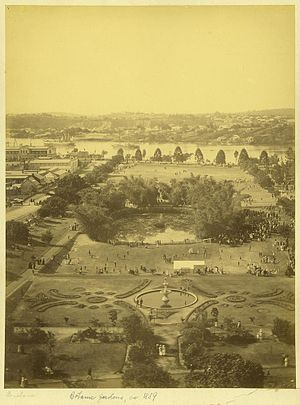 Brisbane Australian Football Club - Queen's Park in the 1880s – playing field at far end