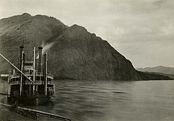Steamer Hannah at Eagle landing, circa 1900