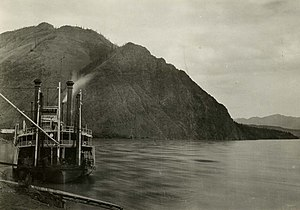 Eagle, Alaska - Steamer ''Hannah'' at Eagle landing, circa 1900