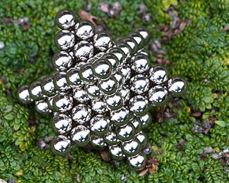 Stella octangula number - 124 magnetic balls arranged into the shape of a stella octangula