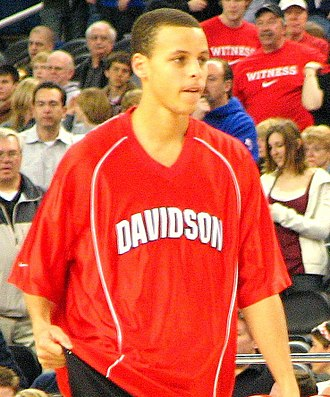 2009 NCAA Men's Basketball All-Americans - Image: Stephen Curry Davidson cropped