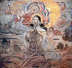 An�nimo: �xtase de Santa Teresa, Igreja do Convento do Carmo, S�o Crist�v�o. A espontaneidade na�f � uma caracter�stica de grande parte do barroco brasileiro