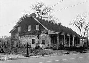 New Bridge Landing - The Steuben House pictured in 1936.
