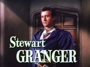 Stewart Granger - In a trailer for Young Bess