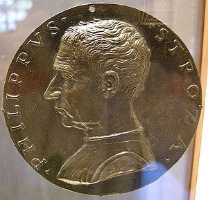 Filippo Strozzi the Elder - Filippo Strozzi the Elder, medal (1489)