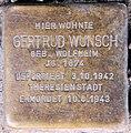 Stolperstein Bleibtreustr 33 (Charl) Gertrud Wunsch.jpg