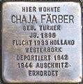 Stolperstein Karlsruhe Färber Chaja geb Turner.jpeg