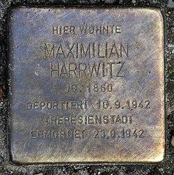 Photo of Maximilian Harrwitz brass plaque