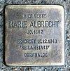 Stolperstein Oranienburger Str 285 (Witt) Marie Albrecht.jpg
