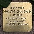 Stolperstein Pariser Str 11 (Wilmd) Hermann Sandmann.jpg