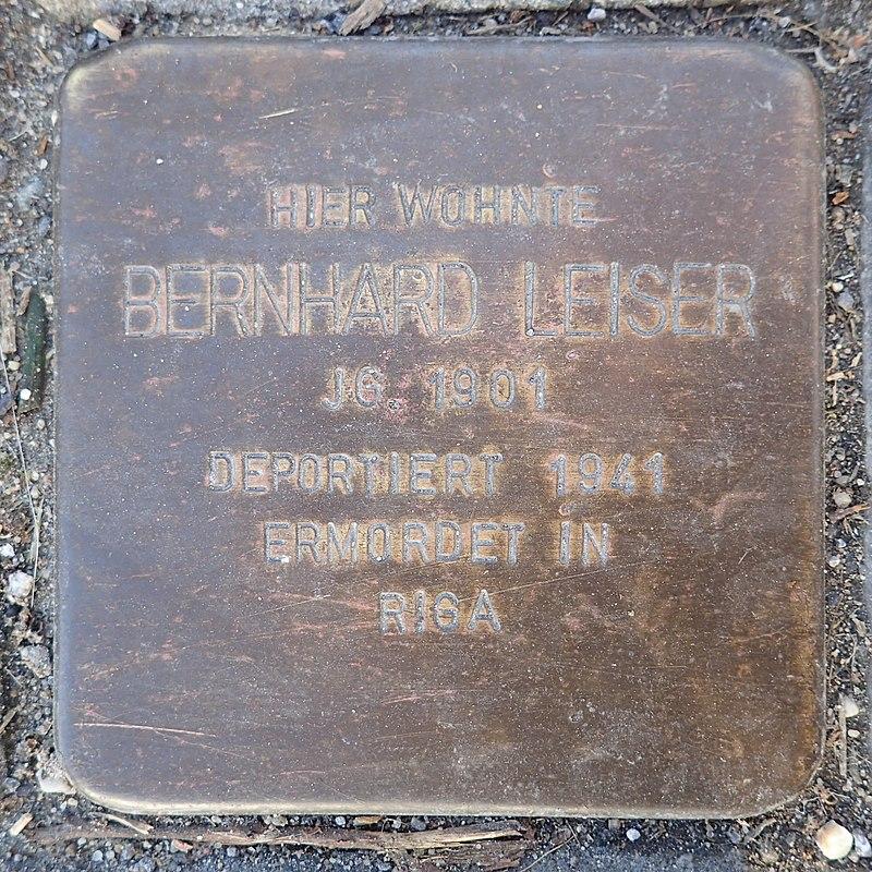 Stolperstein Rheurdt Rathausstraße 27 Bernhard Leiser