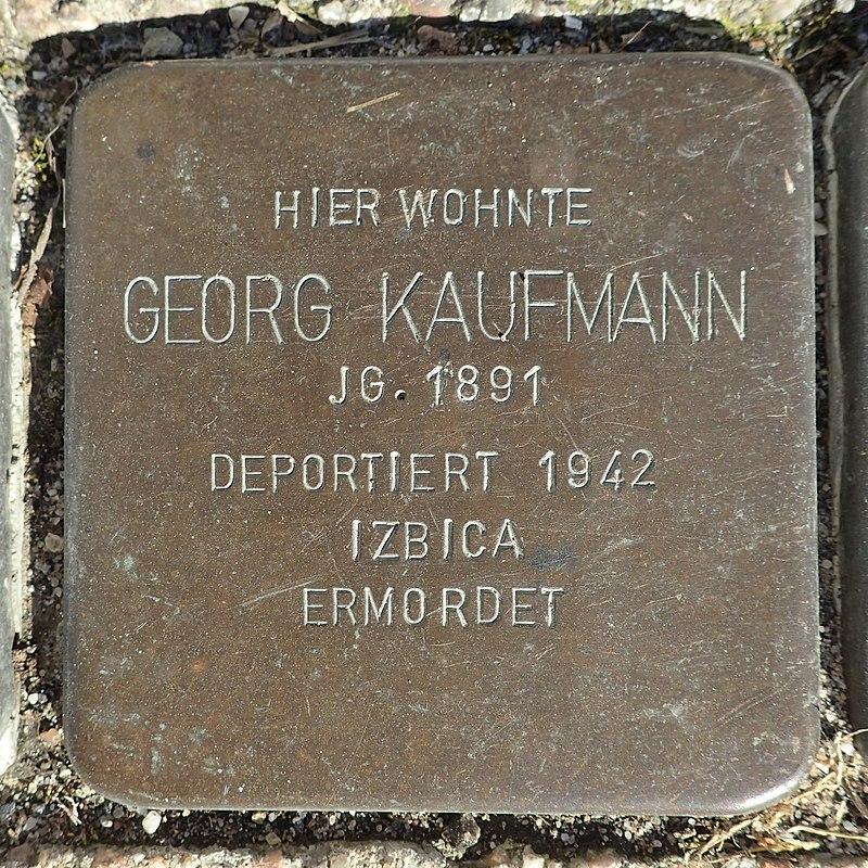 Stolperstein Rheurdt Rathausstraße 70 Georg Kaufmann