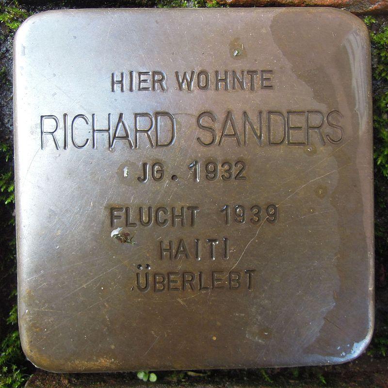 Stolperstein für Richard Sanders