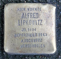 Photo of Alfred Lipkowitz brass plaque